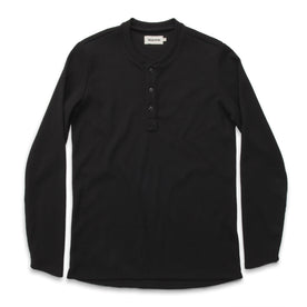 The Henley in Black Merino Waffle - featured image