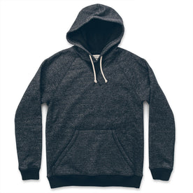The Hoodie in Charcoal Fleck Fleece: Featured Image
