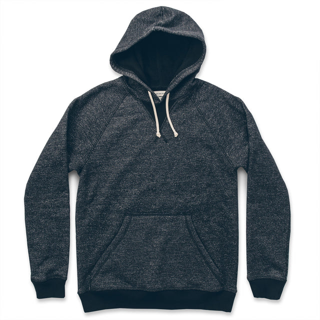 The Hoodie in Charcoal Fleck Fleece