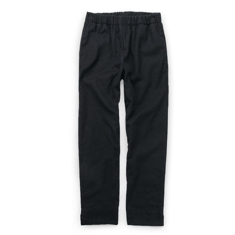 The Isla Pant in Black Brushed Cotton - featured image