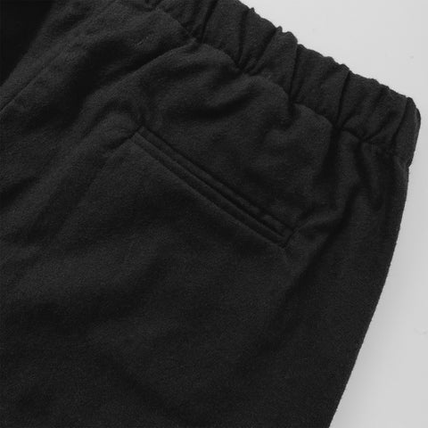 The Isla Pant in Black Brushed Cotton - alternate view