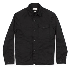 The Project Jacket in Black Water Repellent Canvas: Featured Image