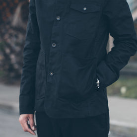 The Project Jacket in Black Water Repellent Canvas: Alternate Image 3