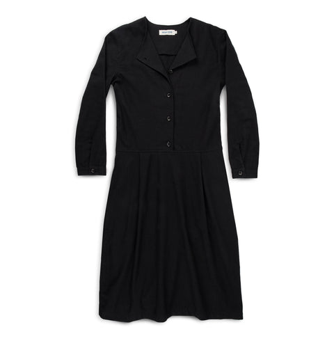 The Juniper Dress in Black Brushed Cotton - featured image