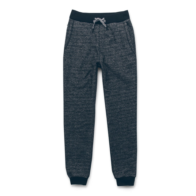 The Travel Pant in Charcoal Fleck Fleece