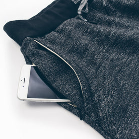 The Travel Pant in Charcoal Fleck Fleece: Alternate Image 2