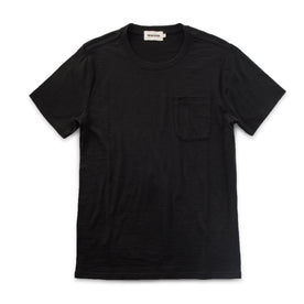 The Crewneck Pocket Tee in Black Merino: Featured Image
