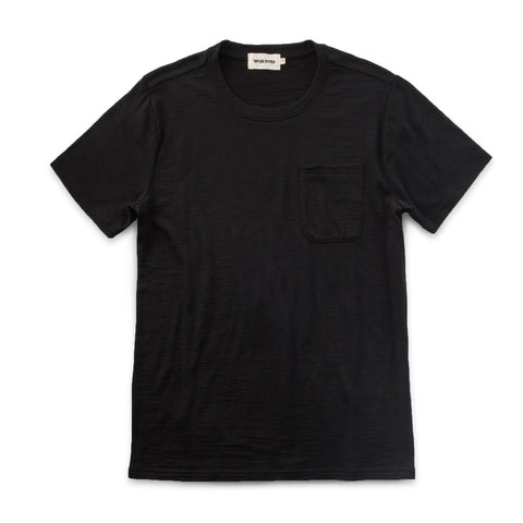 The Crewneck Pocket Tee in Black Merino - featured image