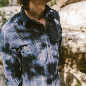 The Crater Shirt in Navy & Charcoal Plaid