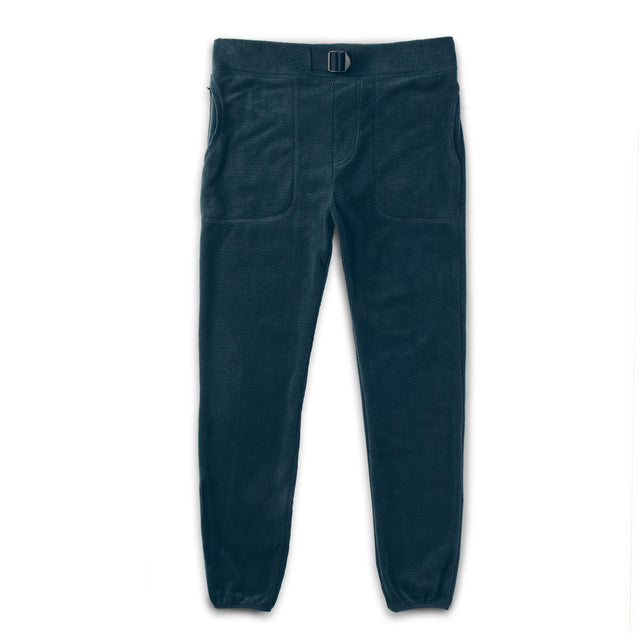 The Pack Pant in Midnight Polartec Fleece