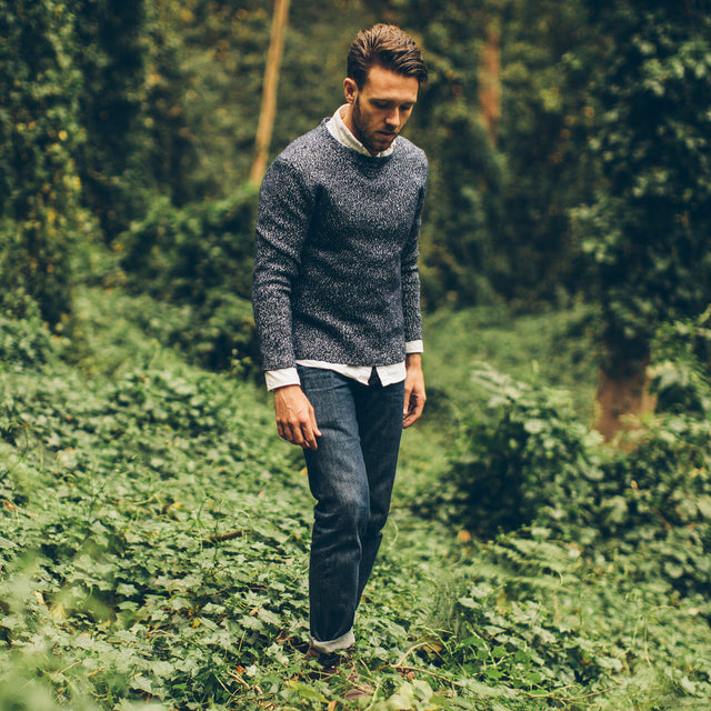 The Summit Sweater in Navy