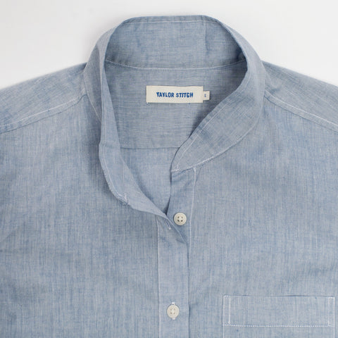 The Caroline in Light Blue Chambray - alternate view