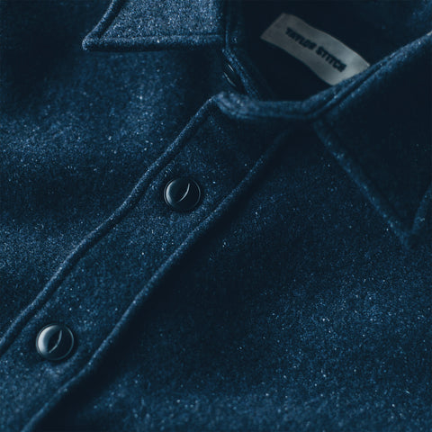 The Maritime Shirt Jacket in Navy Donegal Lambswool - alternate view