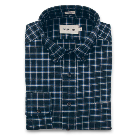 The Jack in Brushed Navy Plaid Flannel - featured image