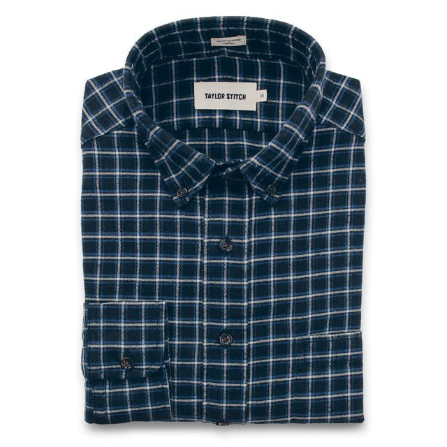 The Jack in Brushed Navy Plaid Flannel