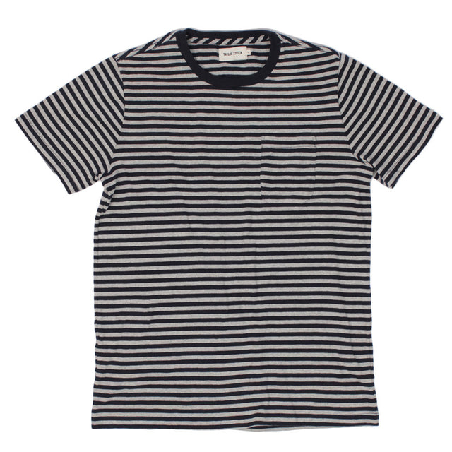 The Sequoia Stripe Tee in Navy & Grey