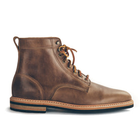 The Plain Toe Moto Boot in Natural Chromexcel - Extra Widths: Featured Image