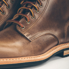 The Plain Toe Moto Boot in Natural Chromexcel - Extra Widths: Alternate Image 4