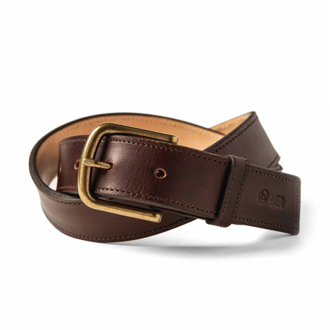 The Stitched Belt in Espresso - featured image