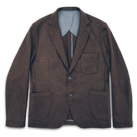 The Telegraph Jacket in Chocolate Wool - featured image