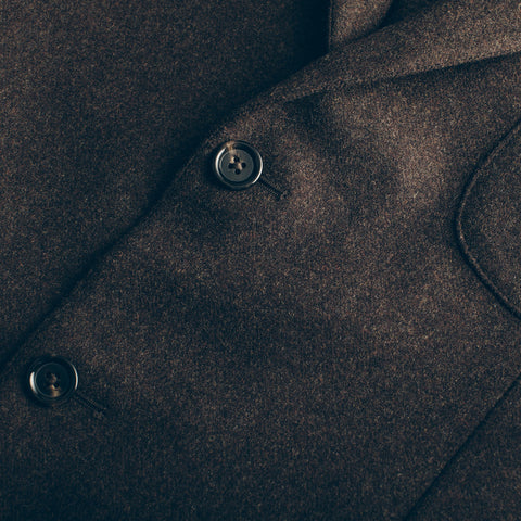 The Telegraph Jacket in Chocolate Wool - alternate view