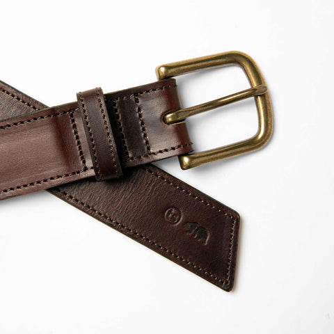 The Stitched Belt in Espresso - alternate view