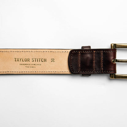 The Stitched Belt in Espresso: Alternate Image 3