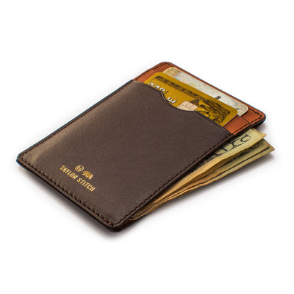 The Minimalist Wallet in Brown: Alternate Image 2