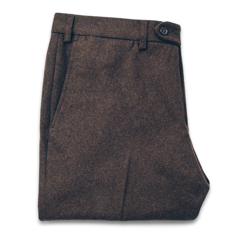 The Telegraph Trouser in Chocolate Wool - featured image