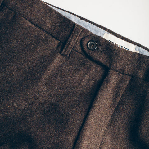 The Telegraph Trouser in Chocolate Wool - alternate view