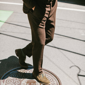 The Telegraph Trouser in Chocolate Wool: Alternate Image 1