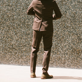 The Telegraph Trouser in Chocolate Wool: Alternate Image 2