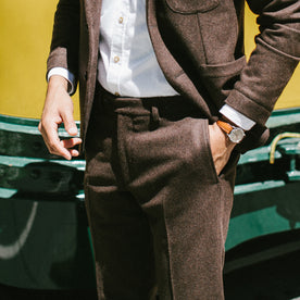 The Telegraph Trouser in Chocolate Wool: Alternate Image 3