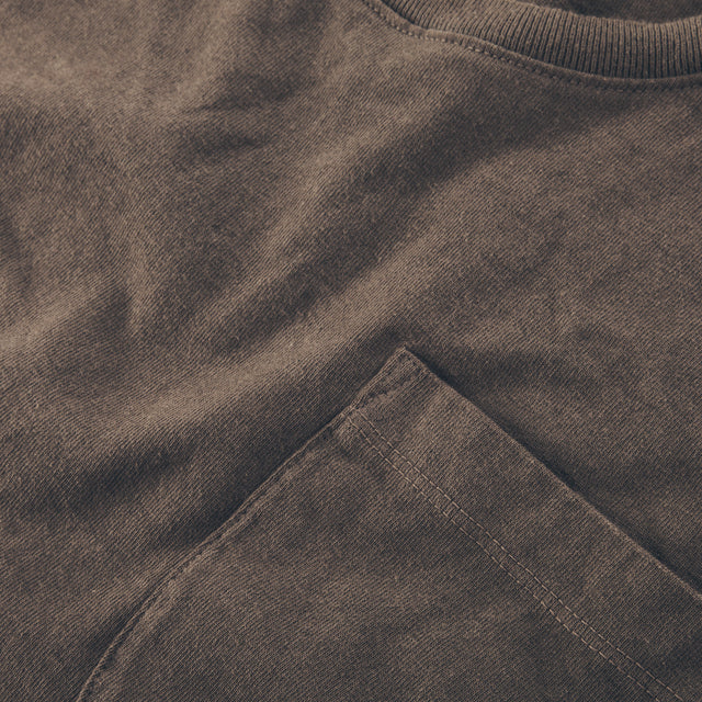 The Heavy Bag Tee in Fatigue Brown