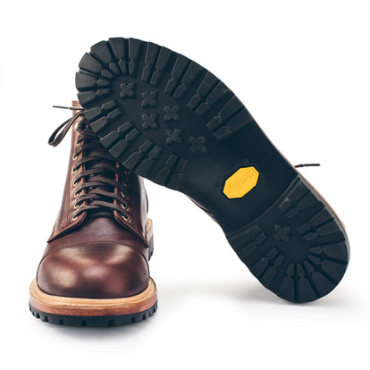 The Cap Toe Moto Boot in Brown Steerhide: Alternate Image 5