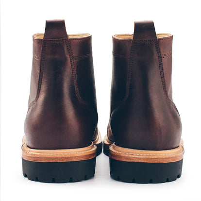 The Cap Toe Moto Boot in Brown Steerhide: Alternate Image 6