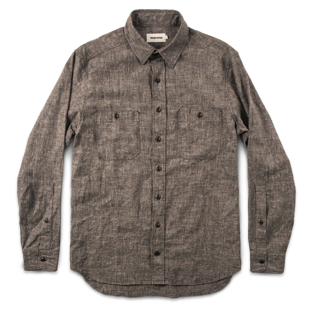 The California in Brown Hemp Chambray