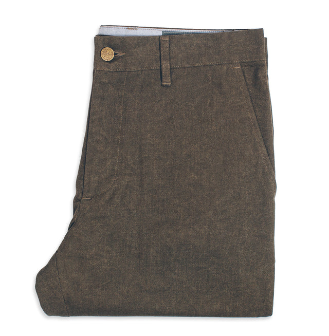 6 Point Pant in Olive Drab Oxford