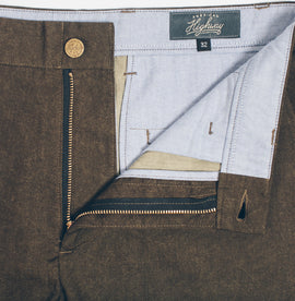 6 Point Pant in Olive Drab Oxford: Alternate Image 2