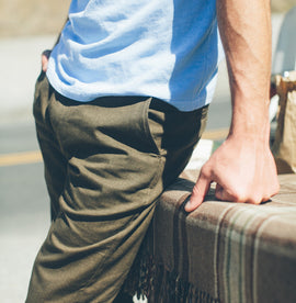 6 Point Pant in Olive Drab Oxford: Alternate Image 4