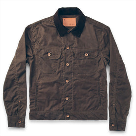 The Long Haul Jacket in Dark Oak Waxed Canvas: Featured Image