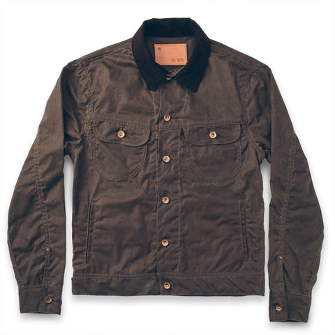 The Long Haul Jacket in Dark Oak Waxed Canvas - featured image