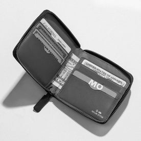 The Zip Wallet in Black: Alternate Image 1