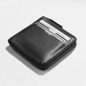 The Zip Wallet in Black: Alternate Image 2
