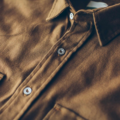 The Chore Shirt in Camel - alternate view