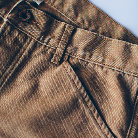 The Camp Pant in Washed Sawdust Canvas - alternate view