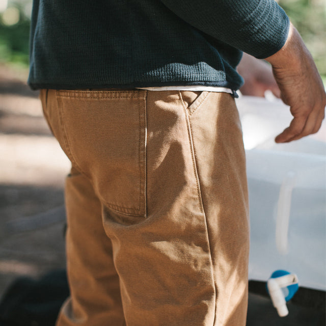 The Camp Pant in Washed Sawdust Canvas