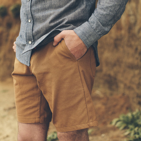 Camel Duck Canvas Camp Shorts - alternate view
