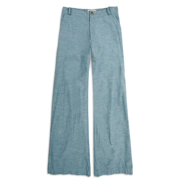 The Greenwich Pant in Washed Chambray