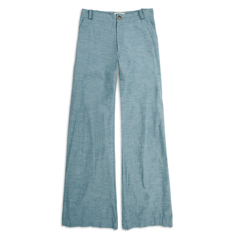 The Greenwich Pant in Washed Chambray - featured image